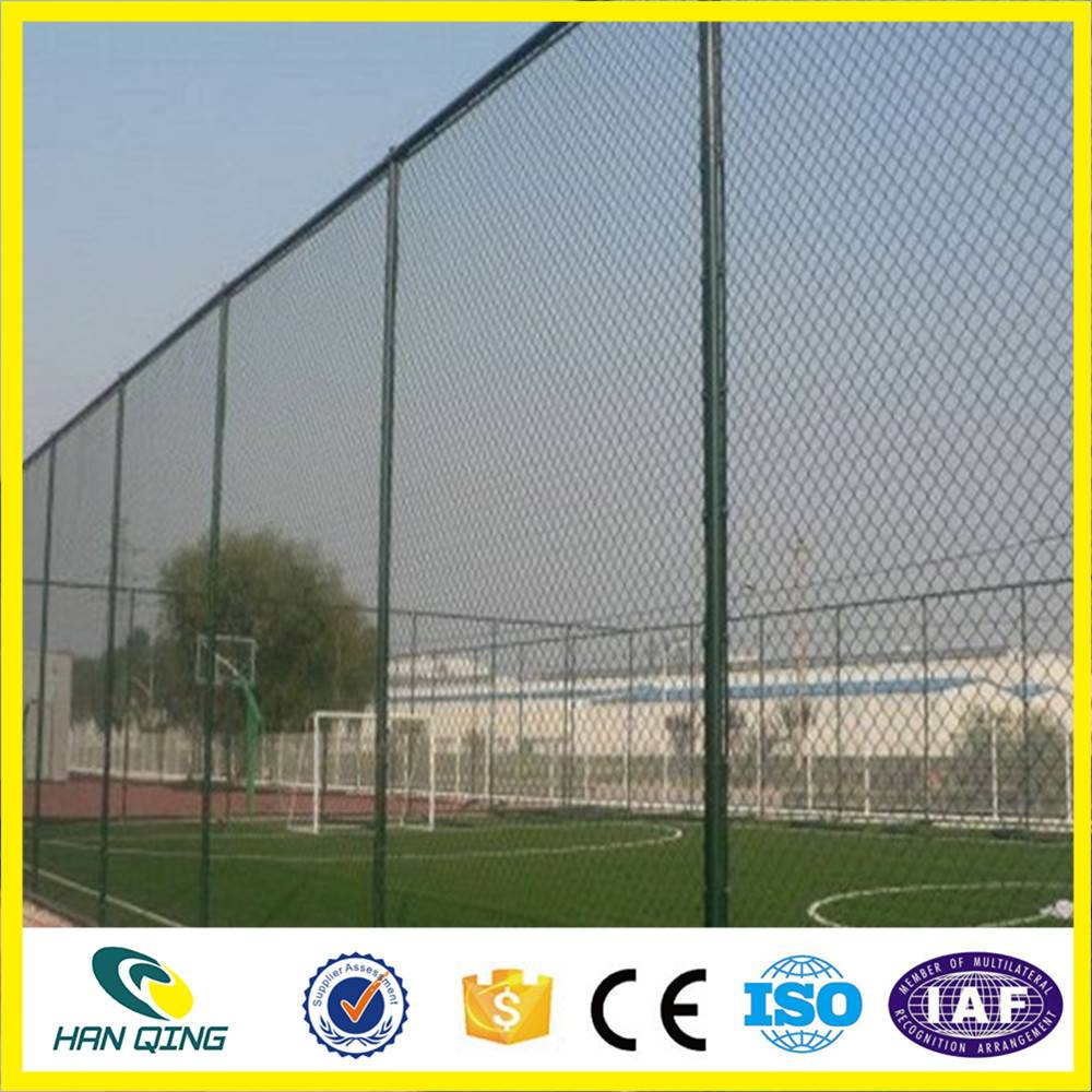 60mmX60mm opening pvc coated diamond wire mesh fence