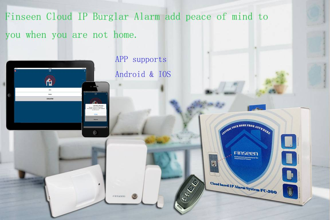 Wireless Alarm System with APP control anywhere