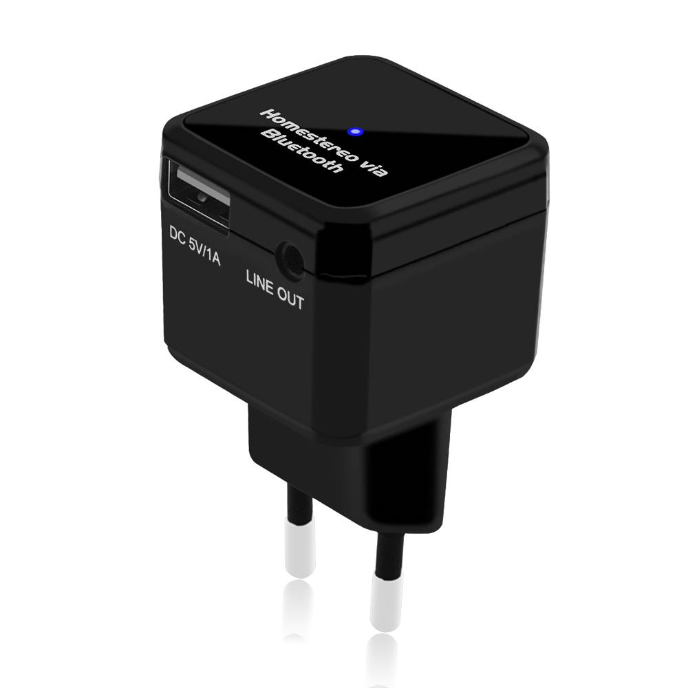 BT303 (EU) V2.1 Bluetooth Receiver for Wireless Music Receiving with USB Charging