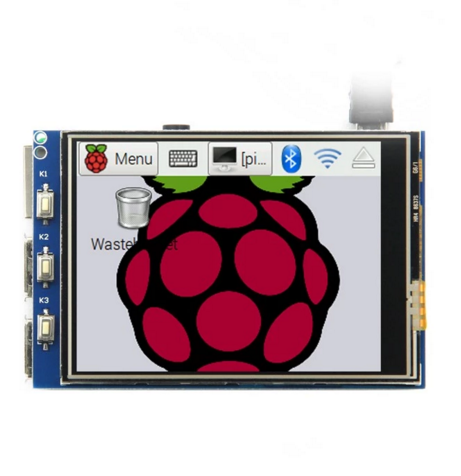 "Raspberry Pi 3.2"" 320x240 TFT LCD Touch Screen with XPT2046 Controller for Any Revision of Raspberry"