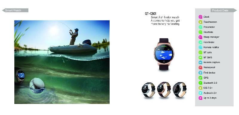 Fish finder smart watch CB01