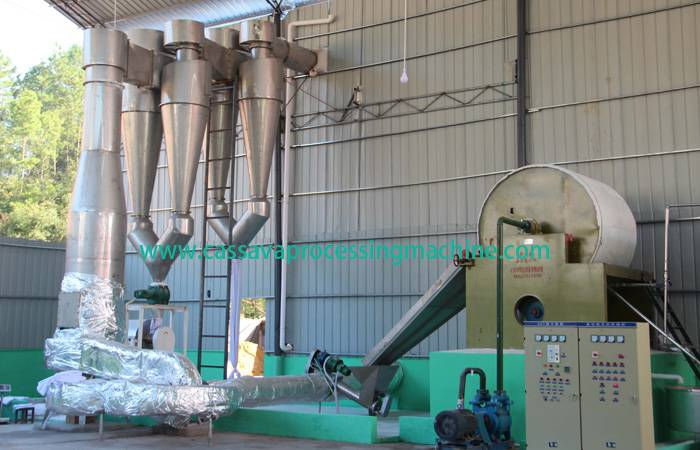 Complete cassava starch processing plant