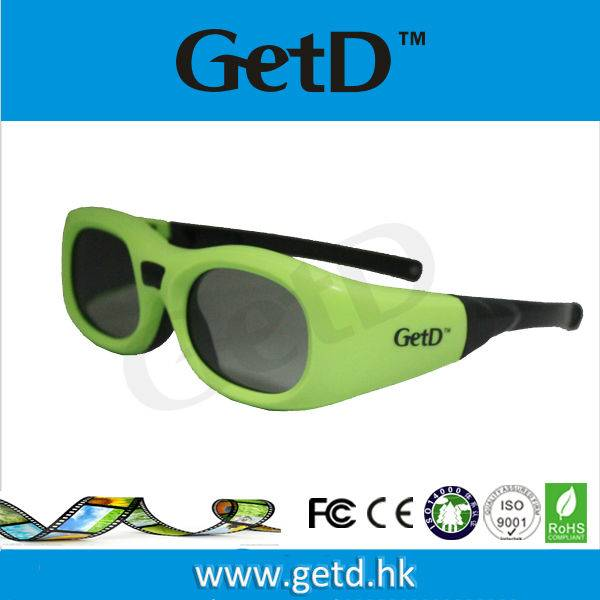 Cheap 3D Glasses Active Shutter Converter Support Shutter Glasses Cinema Battery Rechargeale GT610