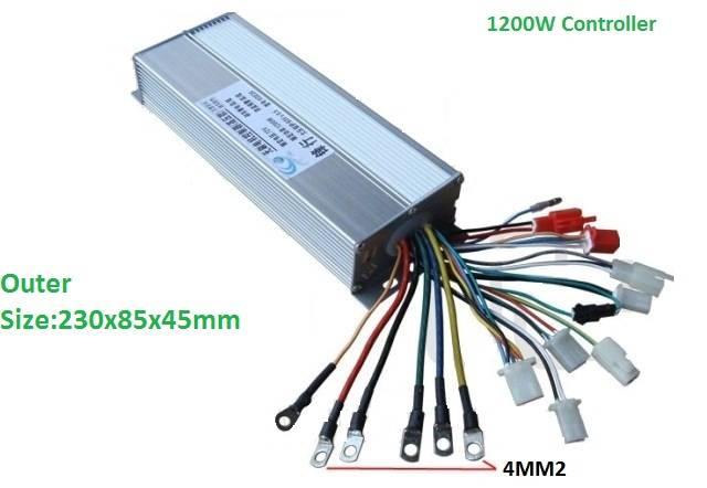 1200W E-Bike Hub Motor Controller 18 POWER MOSFET