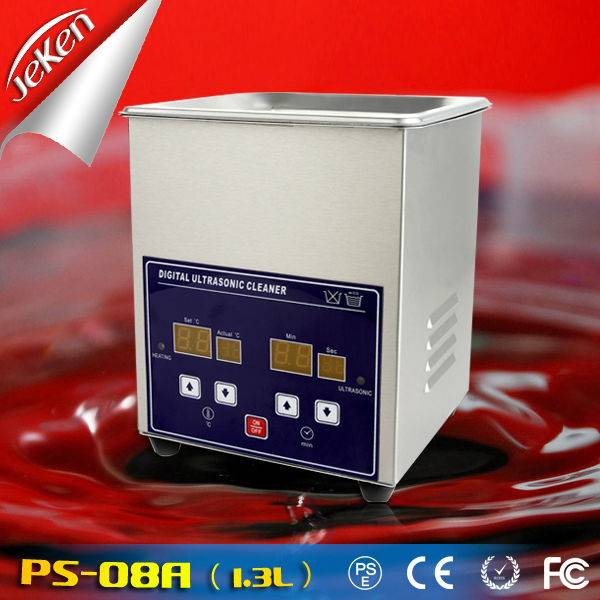 70W Best Used High Quality Digital Portable Ultrasonic Jewelry Cleaner For Sale 1.3l (Jeken PS-08A)