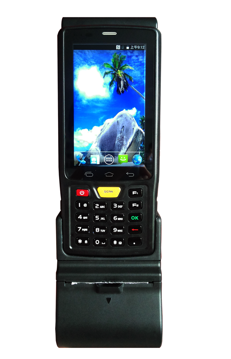 ST907V7.0 4 inch Android PDA with 1d 2d barcode scanner and thermal printer