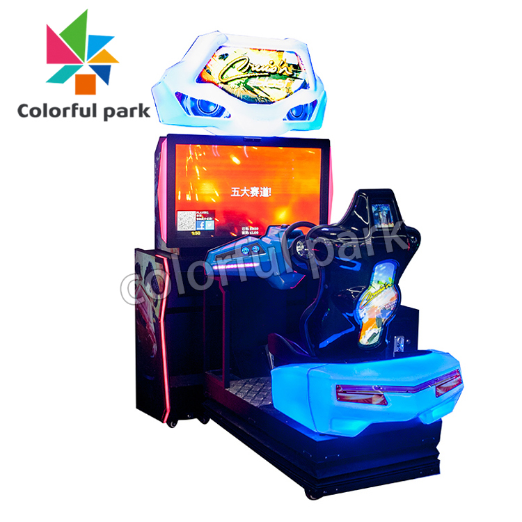 Colorful Park Dynamic Racing Coin Operated Simulator Game Machine Arcade Car Racing