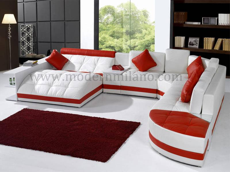 Modern u shape leather sofas