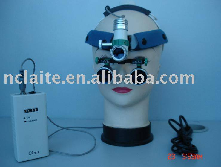 surgical headlight with loupe