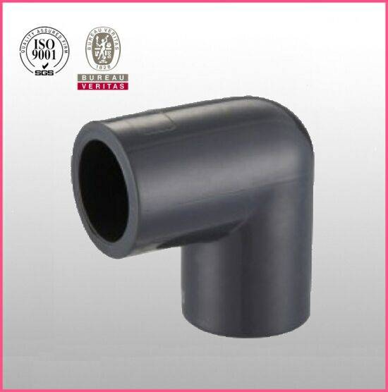 HJ brand UPVC ASTM D2467 SCH80 pipe fitting 90 deg elbow