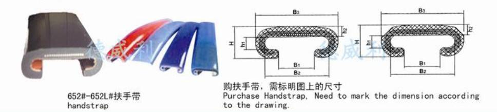 escalator parts/escalator handrail scrap/escalator assessory