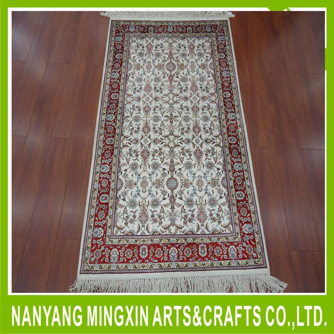 handmade hand knotted pure silk floor carpet