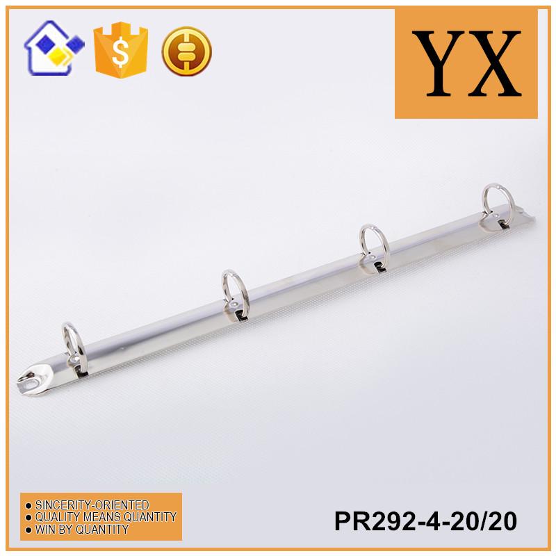 China manufacturer 292mm nickel metal 4 ring mechanism binder clip