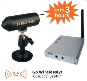 300m Long Range 2.4GHz Mini Wireless Camera Kit with reciever