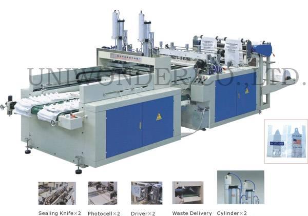 DFR-400×2 Automatic Double-Line Vest Bag Making Machine