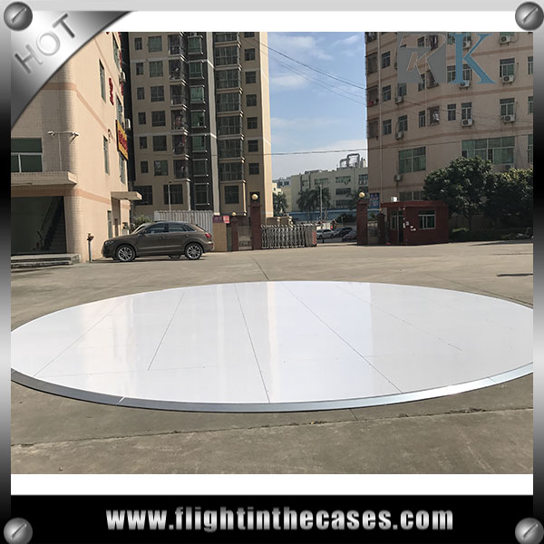 New design RK dance floor interactive round white dance floor