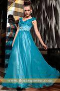 DORISQUEEN free shipping elegant blue V-neck long dresses evening 2013 new fashion 30829