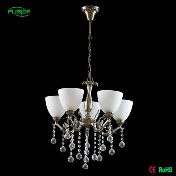 Factory price Top quality white crystal chandelier lighting for home with 5 lights