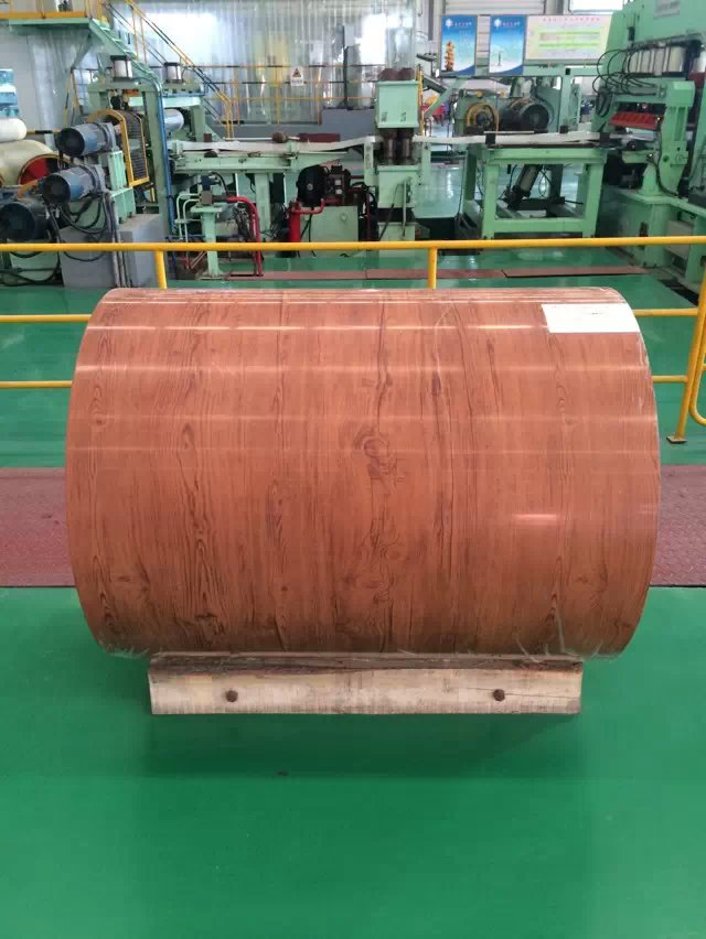 2016 new wooden color PPGI/prepainted galvanized steel coil