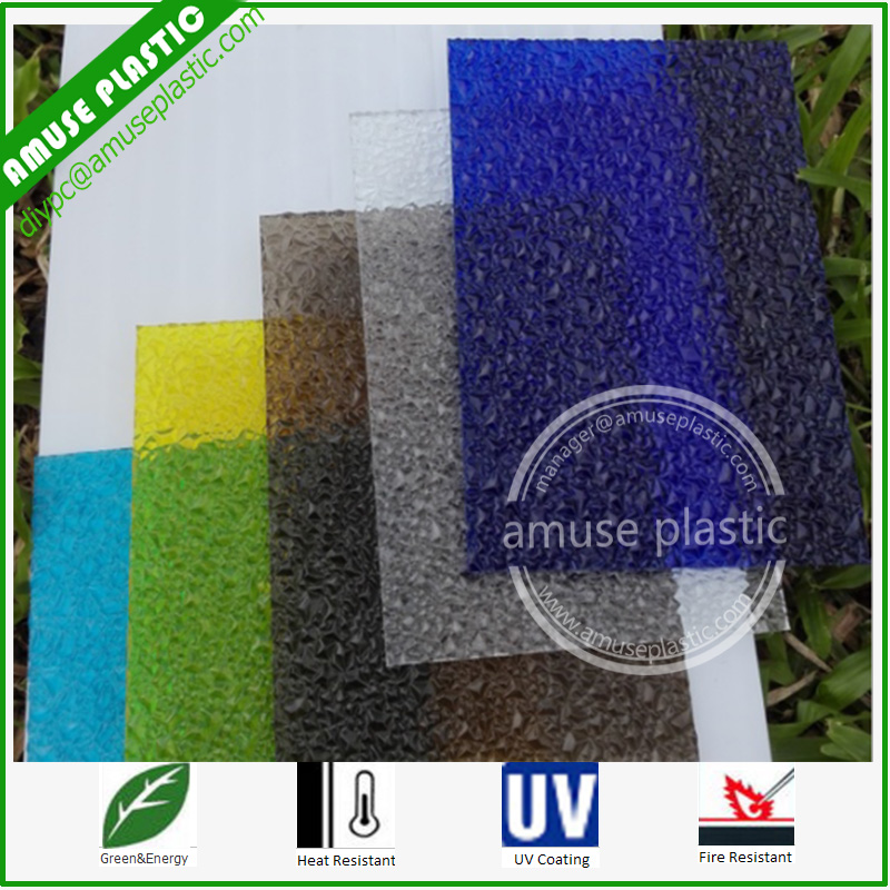 Plastic Decorative Material Panel PC Embossed Sheet for Shower Room