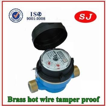 Single Jet Water Meter Brass Dry Type LXSC-13D8
