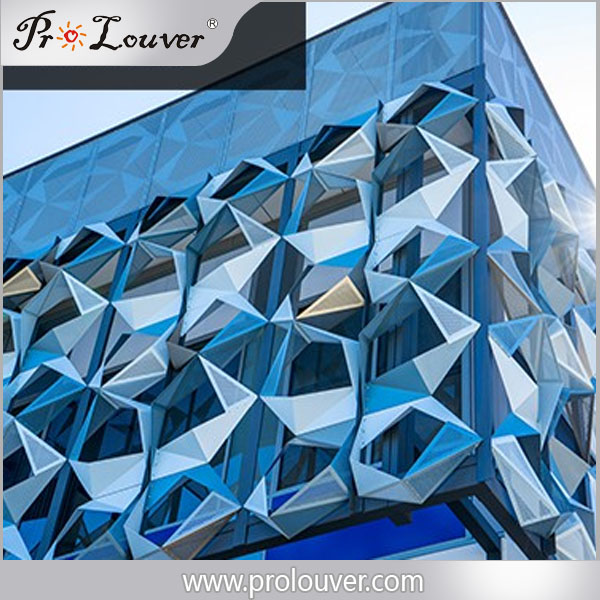 perforated folded aluminum panel screen