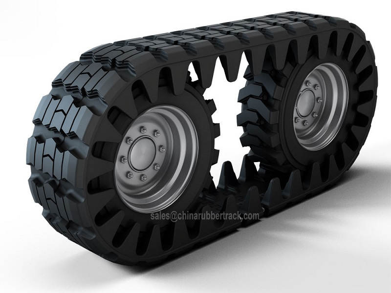 Rubber Skid Steer Over The Tire Tracks Off-Road Vehicle OTT Rubber Tracks Manufacturer