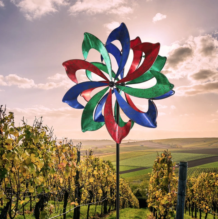 Colorful Sickle Shaped Win Wind Spinner