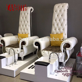 Luxury design pipeless nails pedicure chairs with bowl and magnetic jet CB-FP002