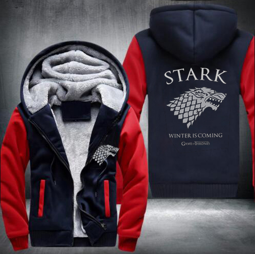 New Game of Thrones Winter is Coming Stark Sweatshirts Hoodies Velvet Coat USA Size fast ship