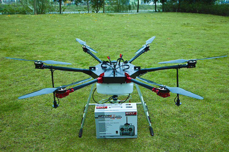 UAV 6 axis 10KG with GPS & camera crop duster drone agulture sprayer