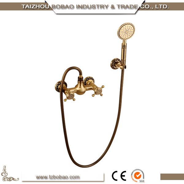High Quality Brass Bath Water Mixer Taps Antique Faucet Bathroom Shower