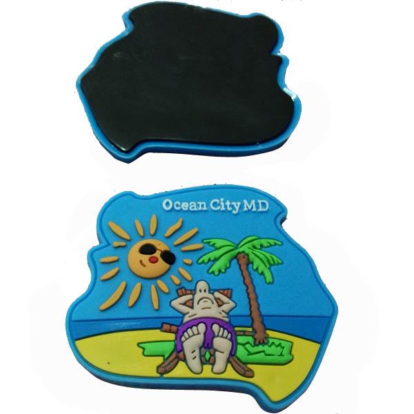 Plastic Souvenirs PVC rubber refrigerator magnet Memo sticker