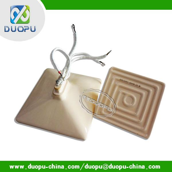 hollow type 122*122mm ceramic infrared heater panel