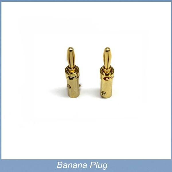 Gold-plated Banana Plug Screw Connector Audio adapter