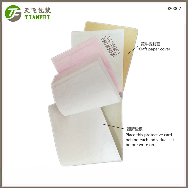 140x230mm kraft paper cover folded carboard Customer satisfaction questionnaire book