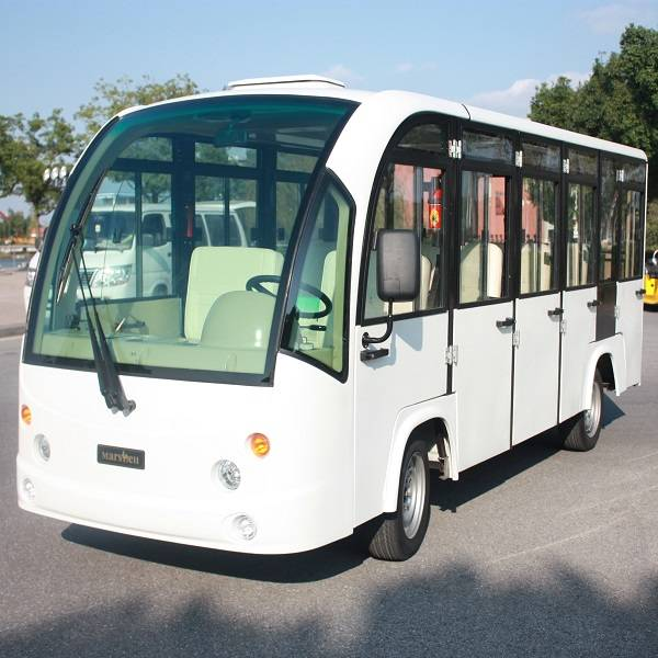 electric enclosed passenger bus with CE