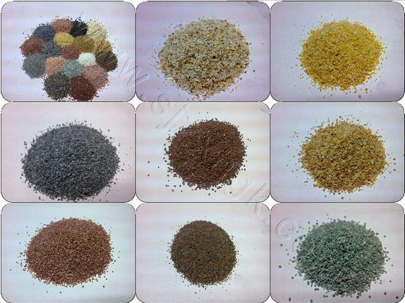 Color sand quartz sand construction sand for epoxy floor coating with lower price for sale