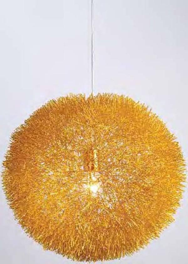 hanging gold aluminum wire ball/Aluminum wire Ball modern pendant light for dining room modern Penda