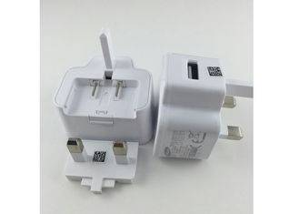 White UK  Plug Single  Samsung Cell Phone Charger , Charger Original Samsung