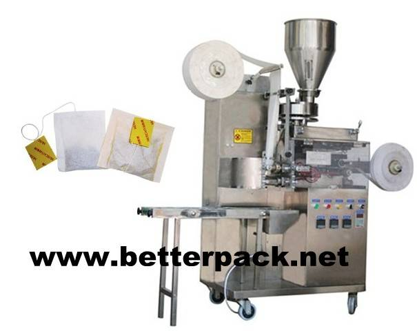 Tea bags packaging machines with string and tag