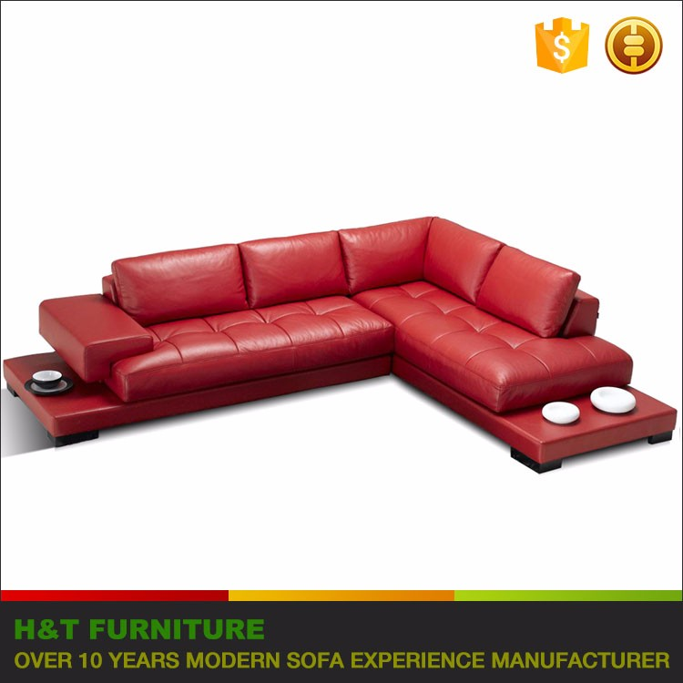 Big Corner Leather Sofa China Sofa Furniture l Shape Sectional Sofa T882