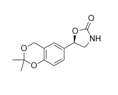 2-Oxazolidinone, 5-(2,2-diMethyl-4H-1,3-benzodioxin-6-yl)-, (5R)- (CAS NO.:452339-73-0)