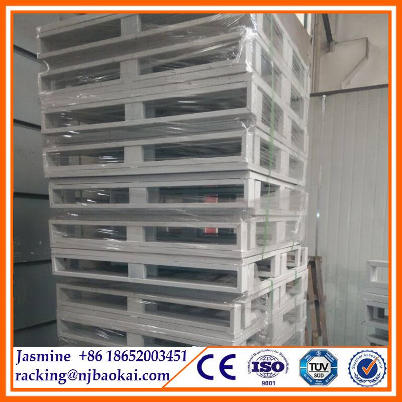 Warehouse Pallet Racking System Powder Coated Steel Pallet