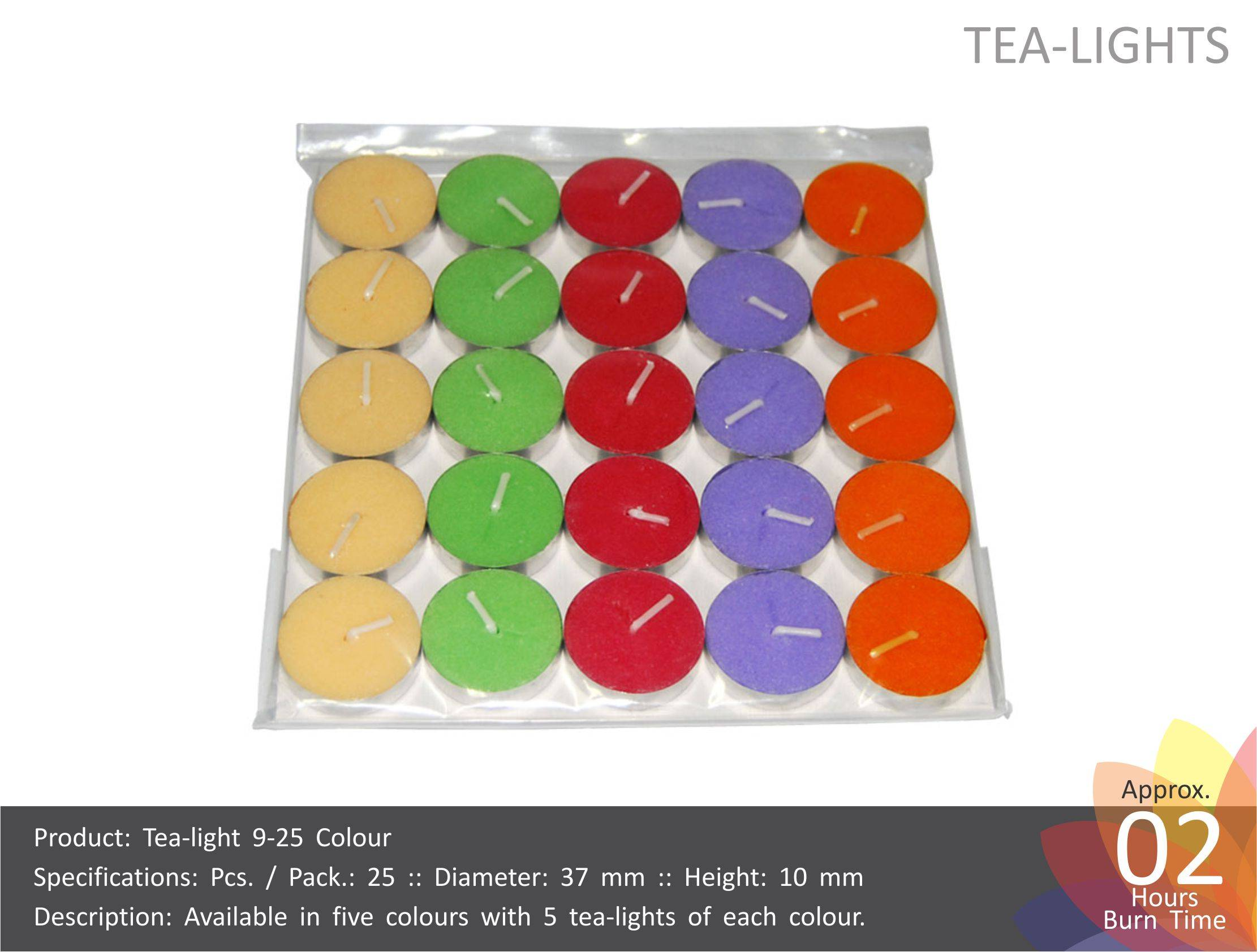 Tea Light Candles Colored