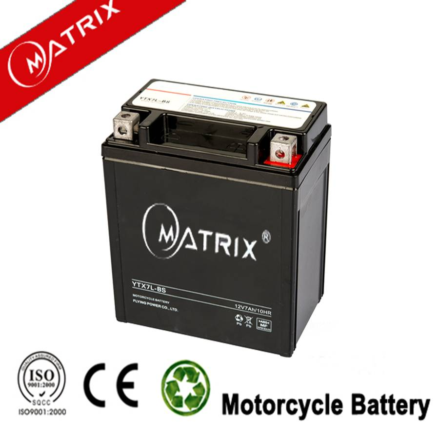 12V 7AH maintenance free motorcycle battery wholesale