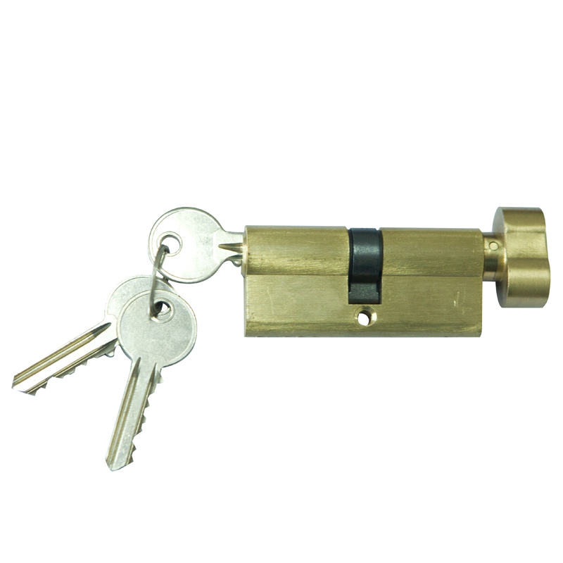 door lock cylinder one side knob one side key