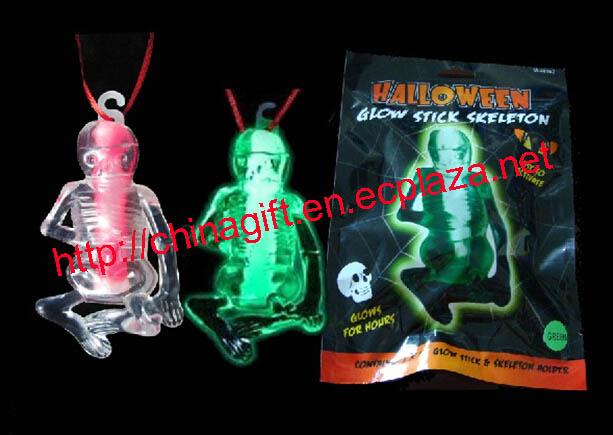 Halloween glow in the dark skull ghost
