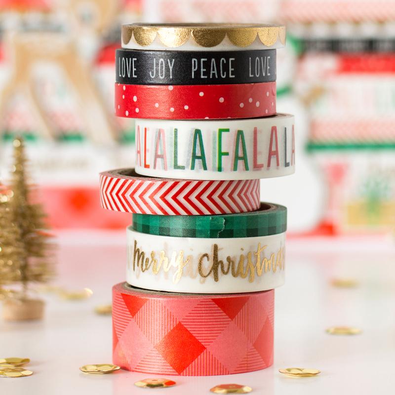 DIY Arts & Crafts Colorful High Quality Custom Make Christmas Washi Masking Tape