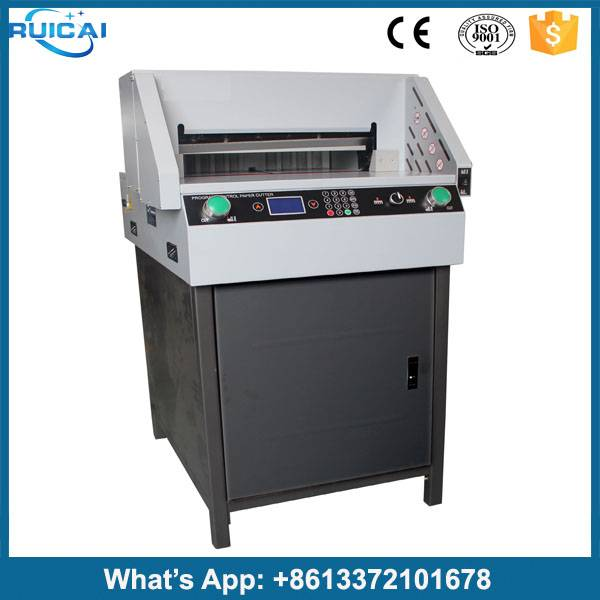 Heavy Duty Single Hydraulic Double Guide Digital Display Guillotine Paper Cutting Machine